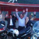 Tourists from Japan says HELLO to Japanese motorbikes :-)