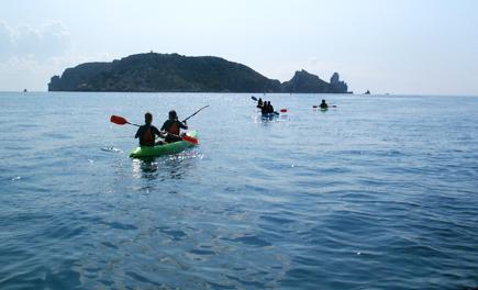 kayaking at Spain
