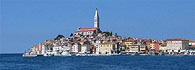 Rovinj - the blue pearl of the Adriatic on the Istra Peninsula